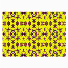 Yellow Seamless Wallpaper Digital Computer Graphic Large Glasses Cloth (2 Side) by Nexatart
