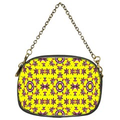 Yellow Seamless Wallpaper Digital Computer Graphic Chain Purses (one Side)  by Nexatart
