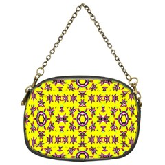 Yellow Seamless Wallpaper Digital Computer Graphic Chain Purses (two Sides)  by Nexatart