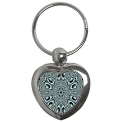 Kaleidoskope Digital Computer Graphic Key Chains (heart)  by Nexatart