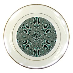 Kaleidoskope Digital Computer Graphic Porcelain Plates by Nexatart