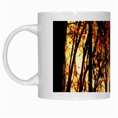 Forest Trees Abstract White Mugs by Nexatart
