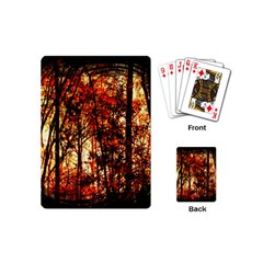 Forest Trees Abstract Playing Cards (mini)  by Nexatart