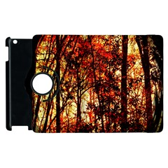 Forest Trees Abstract Apple Ipad 3/4 Flip 360 Case