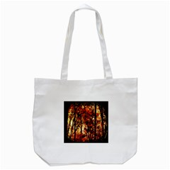 Forest Trees Abstract Tote Bag (white) by Nexatart
