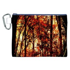 Forest Trees Abstract Canvas Cosmetic Bag (xxl) by Nexatart