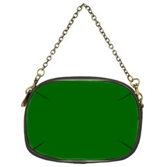 Dark Plain Green Chain Purses (one Side)  by Jojostore