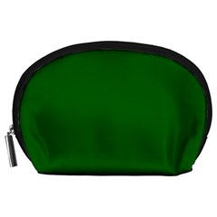 Dark Plain Green Accessory Pouches (large)  by Jojostore