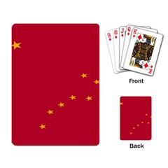 Alaska Star Red Yellow Playing Card by Jojostore