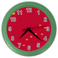 Alaska Star Red Yellow Color Wall Clocks by Jojostore
