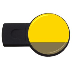 Trolley Yellow Brown Tropical Usb Flash Drive Round (2 Gb) by Jojostore