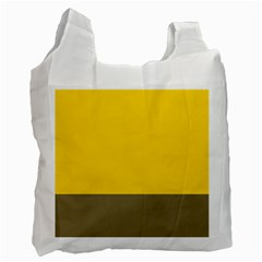 Trolley Yellow Brown Tropical Recycle Bag (one Side) by Jojostore