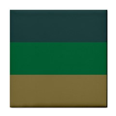 Blue Green Brown Tile Coasters
