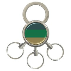 Blue Green Brown 3 Ring Key Chains by Jojostore
