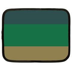 Blue Green Brown Netbook Case (xl)  by Jojostore