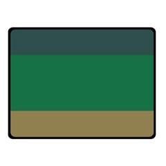 Blue Green Brown Fleece Blanket (small) by Jojostore