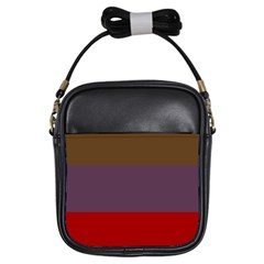 Brown Purple Red Girls Sling Bags by Jojostore