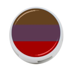 Brown Purple Red 4 Port Usb Hub (one Side) by Jojostore