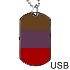 Brown Purple Red Dog Tag Usb Flash (two Sides) by Jojostore
