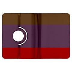 Brown Purple Red Kindle Fire Hdx Flip 360 Case by Jojostore