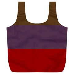 Brown Purple Red Full Print Recycle Bags (l)  by Jojostore
