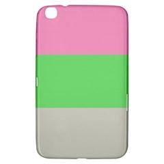 Grey Green Pink Samsung Galaxy Tab 3 (8 ) T3100 Hardshell Case  by Jojostore