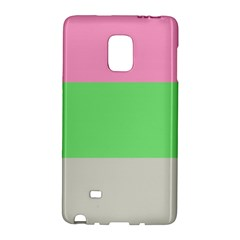 Grey Green Pink Galaxy Note Edge by Jojostore