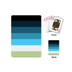Line Color Black Green Blue White Playing Cards (mini)  by Jojostore