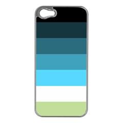 Line Color Black Green Blue White Apple Iphone 5 Case (silver) by Jojostore