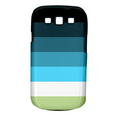 Line Color Black Green Blue White Samsung Galaxy S Iii Classic Hardshell Case (pc+silicone) by Jojostore