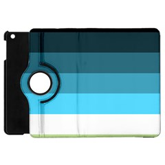 Line Color Black Green Blue White Apple Ipad Mini Flip 360 Case by Jojostore