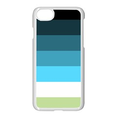 Line Color Black Green Blue White Apple Iphone 7 Seamless Case (white) by Jojostore