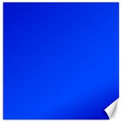 Plain Blue Canvas 20  X 20   by Jojostore