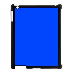 Plain Blue Apple Ipad 3/4 Case (black) by Jojostore