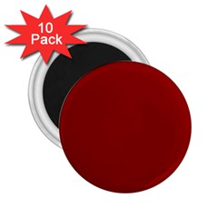 Plain Blue Red 2 25  Magnets (10 Pack)  by Jojostore