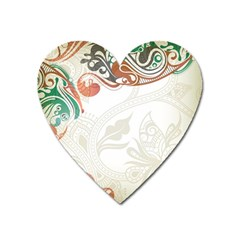 Flower Floral Tree Leaf Heart Magnet by Jojostore