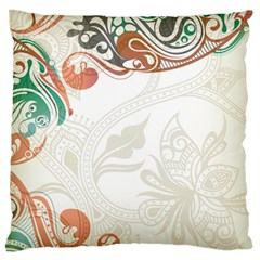 Flower Floral Tree Leaf Large Cushion Case (two Sides) by Jojostore