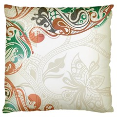 Flower Floral Tree Leaf Large Flano Cushion Case (one Side) by Jojostore