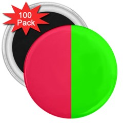 Neon Red Green 3  Magnets (100 Pack) by Jojostore