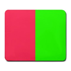 Neon Red Green Large Mousepads by Jojostore