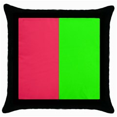 Neon Red Green Throw Pillow Case (black) by Jojostore