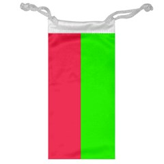 Neon Red Green Jewelry Bag by Jojostore