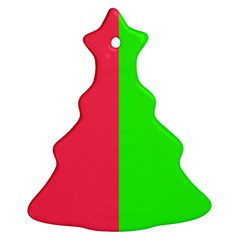 Neon Red Green Christmas Tree Ornament (two Sides) by Jojostore