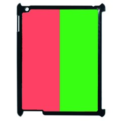 Neon Red Green Apple iPad 2 Case (Black)