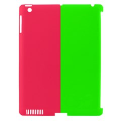 Neon Red Green Apple iPad 3/4 Hardshell Case (Compatible with Smart Cover) by Jojostore