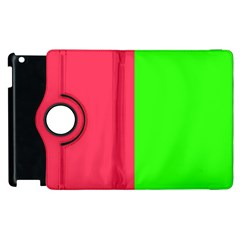 Neon Red Green Apple Ipad 3/4 Flip 360 Case by Jojostore