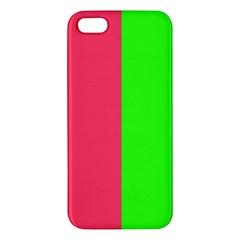 Neon Red Green Iphone 5s/ Se Premium Hardshell Case by Jojostore