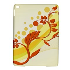 Floral Flower Gold Leaf Orange Circle Ipad Air 2 Hardshell Cases by Jojostore