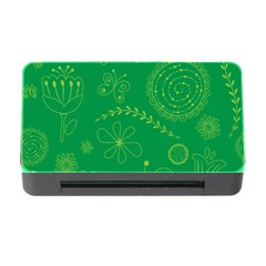 Green Floral Star Butterfly Flower Memory Card Reader With Cf by Jojostore