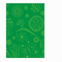 Green Floral Star Butterfly Flower Large Garden Flag (two Sides) by Jojostore